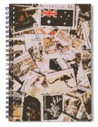 Old Australia In Stamps Spiral Notebook