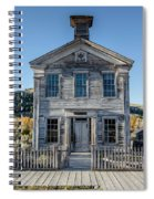 Old Bannack Schoolhouse And Masonic Temple 2 Spiral Notebook