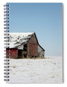 Old Barn And Snowy Prairie Spiral Notebook