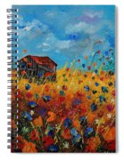 Old Barn And Wild Flowers Spiral Notebook