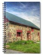 Old Barn At Dusk Spiral Notebook