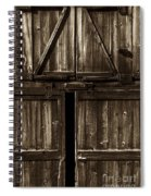 Old Barn Door - Toned Spiral Notebook
