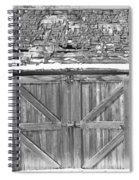 Old Barn In Black And White Spiral Notebook