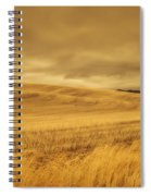 Old Barn In The Wheat Field Spiral Notebook