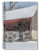 Old Barn In Upper Roxborough In The Snow Spiral Notebook
