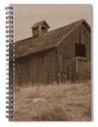 Old Barn In Washington Spiral Notebook