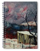 Old Barn In Winter Spiral Notebook