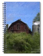 Old Barn On Summer Hill Spiral Notebook