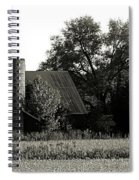 Old Barn Outbuildings And Silo  Spiral Notebook