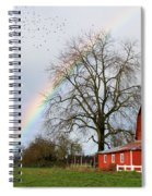 Old Barn Rainbow Spiral Notebook