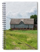 Old Barn Country Scene 4 A Spiral Notebook