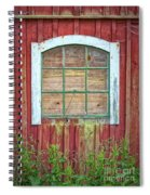 Old Barn Window Spiral Notebook