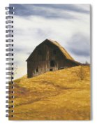 Old Barn With Windmill Spiral Notebook