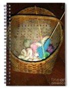 Old Basket New Yarn Spiral Notebook