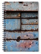 Old Blue Spiral Notebook