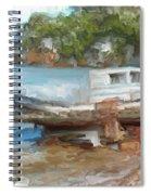 Old Boat At China Camp Spiral Notebook