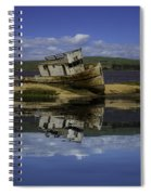 Old Boat Reflection Spiral Notebook