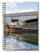 Old Boats Along The Exeter Canal Spiral Notebook