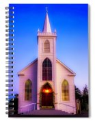 Old Bodega Church Sunset Spiral Notebook