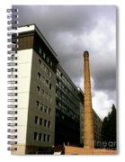 Old Brick Chimney Amongst Modern Office Buildings Near The Railway Station Perugia Umbria Italy Spiral Notebook