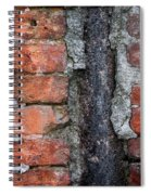 Old Brick Wall Abstract Spiral Notebook
