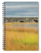 Old Bridge In Autumn Spiral Notebook