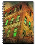 Old Empty Building In Retro Colors Spiral Notebook