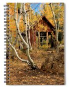 Old Cabin In The Aspens Spiral Notebook