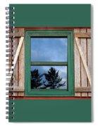 Old Cabin Window Spiral Notebook