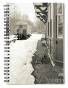Old Caboose At Period Train Depot Winter Spiral Notebook