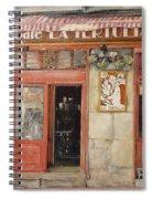 Old Cafe- Santander Spain Spiral Notebook