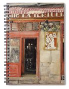 Old Cafe- Santander Spain Spiral Notebook