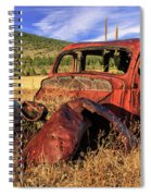 Old Car At Susanville Ranch Spiral Notebook