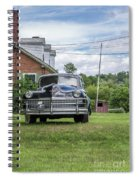Old Car In Front Of House Spiral Notebook