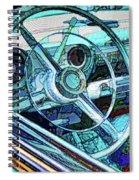 Old Car Wheel Spiral Notebook