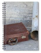 Old Cardboard Suitcase In The Street Spiral Notebook