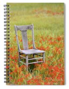 Old Chair In Wildflowers Spiral Notebook