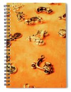Old Charm Scooters Spiral Notebook