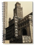 Old Chicago Theater - Vintage Art Spiral Notebook