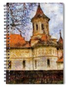 Old Church With Red Roof Spiral Notebook