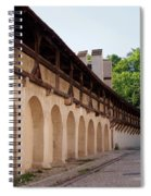 Old City Wall In St Alban Basel Switzerland Spiral Notebook