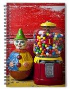 Old Clown Toy And Gum Machine  Spiral Notebook