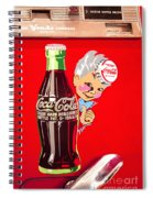 Old Coca-cola Red And White Coke Machine Vintage Vendo Model 44  Spiral Notebook