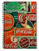 Old Coca-cola Sign Collage Spiral Notebook