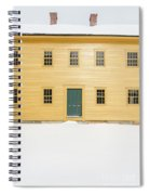 Old Colonial Era Period House In Winter Spiral Notebook