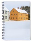 Old Colonial Wood Framed Houses In Winter Spiral Notebook
