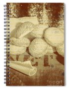 Old Cookie Tin Sign Art Spiral Notebook