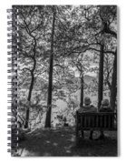 Old Couple On The Bench By The Lake Spiral Notebook
