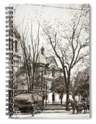 Old Courthouse Public Square Wilkes Barre Pa Late 1800s Spiral Notebook