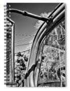 Old Cracked Glass Spider Web Spiral Notebook